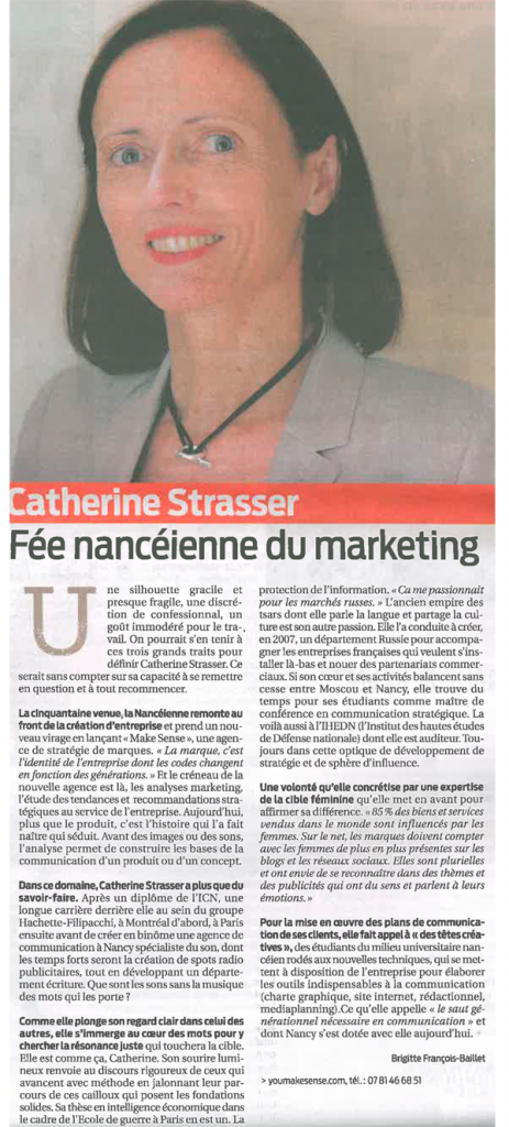 Catherine Strasser, fée nancéienne du marketing